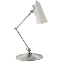 Visual Comfort TOB3212PN-AW Thomas Obrien Antonio 24 inch 60 watt Polished Nickel Task Lamp Portable Light in Antique White