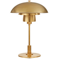 Thomas OBrien Whitman 19 inch 60 watt Hand-Rubbed Antique Brass Desk Lamp Portable Light