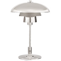 Thomas OBrien Whitman 19 inch 60 watt Polished Nickel Desk Lamp Portable Light