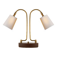 Visual Comfort Thomas OBrien LArc 2 Light Task Table Lamp in Hand-Rubbed Antique Brass TOB3521HAB-NP
