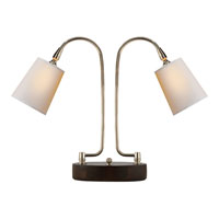 Visual Comfort Thomas OBrien LArc 2 Light Task Table Lamp in Polished Nickel TOB3521PN-NP