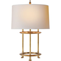 Visual Comfort Thomas OBrien Jayson 3 Light Decorative Table Lamp in Hand-Rubbed Antique Brass TOB3522HAB-NP