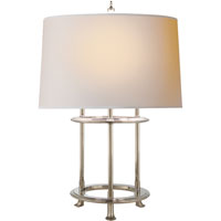 Visual Comfort Thomas OBrien Jayson 3 Light Decorative Table Lamp in Polished Nickel TOB3522PN-NP