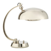 Visual Comfort Thomas OBrien Stefano 1 Light Task Table Lamp in Polished Nickel TOB3540PN