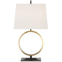 Thomas Obrien Simone 28 inch 75 watt Bronze and Hand-Rubbed Antique Brass Table Lamp Portable Light, Medium