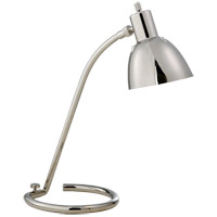Thomas OBrien Tico 16 inch 60 watt Polished Nickel Task Table Lamp Portable Light