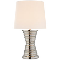 Visual Comfort Thomas OBrien Andre 2 Light Table Lamp in Polished Nickel with Natural Paper Shade TOB3727PN-NP
