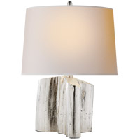 Visual Comfort TOB3734BSL-NP Thomas OBrien Carmel 19 inch 75 watt Burnished Silver Leaf Table Lamp Portable Light