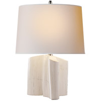 Visual Comfort TOB3734PW-NP Thomas O'Brien Carmel 19 inch 75 watt Plaster White Table Lamp Portable Light