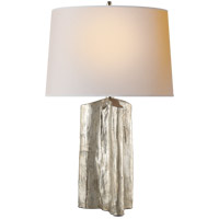 Visual Comfort TOB3735BSL-NP Thomas Obrien Sierra 28 inch 100 watt Burnished Silver Leaf Table Lamp Portable Light