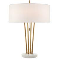 Visual Comfort TOB3736HAB/WM-L Thomas OBrien Stefano 24 inch 40 watt Hand-Rubbed Antique Brass and White Marble Table Lamp Portable Light Medium