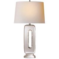 Visual Comfort TOB3743CG-NP Thomas OBrien Demi 29 inch 100 watt Crystal Table Lamp Portable Light, Thomas O''Brien, Natural Paper Shade