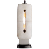 Thomas OBrien Demi 19 inch 40 watt Alabaster Sculpture Table Lamp Portable Light, Thomas O''Brien