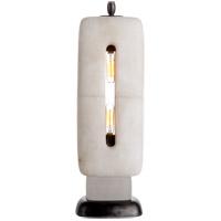 Visual Comfort TOB3748ALB Thomas OBrien Demi 19 inch 40 watt Alabaster Sculpture Table Lamp Portable Light, Thomas O''Brien