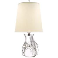 Visual Comfort TOB3755CG-PL Thomas OBrien Talon 21 inch 75 watt Crystal Table Lamp Portable Light, Thomas O''Brien, Natural Percale Shade