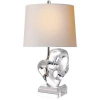 Visual Comfort TOB3757CG-NP Thomas OBrien Dasha 22 inch 75 watt Crystal Table Lamp Portable Light, Thomas O''Brien, Natural Paper Shade
