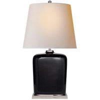 Thomas OBrien Mimi 28 inch 60 watt Black Porcelain Table Lamp Portable Light, Thomas O''Brien, Natural Paper Shade