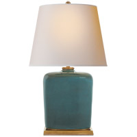 Thomas OBrien Mimi 28 inch 60 watt Oslo Blue Table Lamp Portable Light, Thomas O'Brien, Natural Paper Shade
