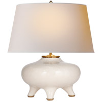 Thomas OBrien Nara 24 inch 60 watt Tea Stain Crackle Table Lamp Portable Light, Thomas O''Brien, Natural Paper Shade