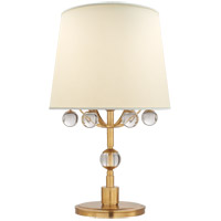 Visual Comfort TOB3914HAB/CG-L Thomas OBrien Voltaire 19 inch 75 watt Hand-Rubbed Antique Brass and Crystal Bedside Lamp Portable Light