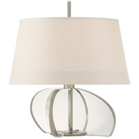 Visual Comfort TOB3990PN/CG-S Thomas OBrien Orillon 23 inch 60 watt Polished Nickel and Crystal Accent Lamp Portable Light