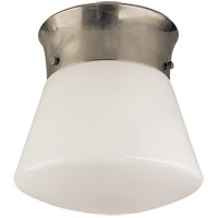 Visual Comfort Thomas OBrien Perry 1 Light Flush Mount in Antique Nickel TOB4000AN