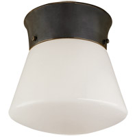 Visual Comfort Thomas OBrien Perry 1 Light Flush Mount in Bronze with Wax TOB4000BZ
