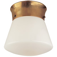 Visual Comfort Thomas OBrien Perry 1 Light Flush Mount in Hand-Rubbed Antique Brass TOB4000HAB