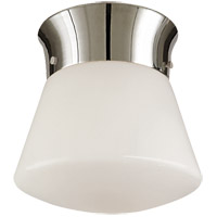 Visual Comfort Thomas OBrien Perry 1 Light Flush Mount in Polished Nickel TOB4000PN