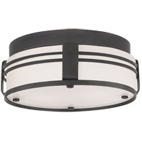 Thomas OBrien Ted 2 Light 15 inch Bronze Flush Mount Ceiling Light