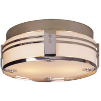 Visual Comfort TOB4003CH Thomas O'Brien Ted 2 Light 15 inch Chrome Flush Mount Ceiling Light