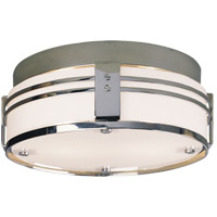 Visual Comfort Thomas OBrien Ted 2 Light Flush Mount in Polished Nickel TOB4003PN