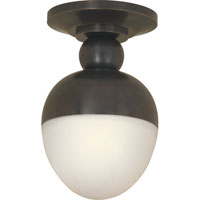 Visual Comfort Thomas OBrien Clark 1 Light Flush Mount in Bronze with Wax TOB4006BZ-WG