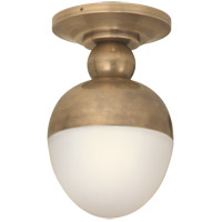 Visual Comfort TOB4006HAB-WG Thomas O'Brien Clark 1 Light 8 inch Hand-Rubbed Antique Brass Flush Mount Ceiling Light