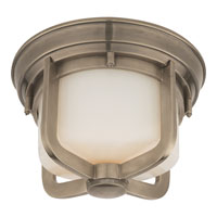 Visual Comfort Thomas OBrien Milton Road 1 Light Flush Mount in Antique Nickel TOB4011AN-WG