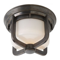 Visual Comfort Thomas OBrien Milton 1 Light Flush Mount in Bronze TOB4011BZ-WG