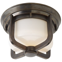 Visual Comfort TOB4011BZ-WG Thomas OBrien Milton 1 Light 10 inch Bronze Flush Mount Ceiling Light