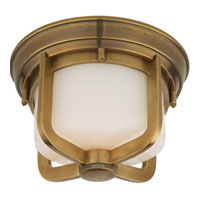 Visual Comfort Thomas OBrien Milton 1 Light Flush Mount in Hand-Rubbed Antique Brass TOB4011HAB-WG