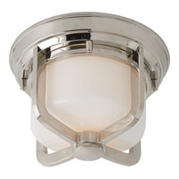 Visual Comfort Thomas OBrien Milton 1 Light Flush Mount in Polished Nickel TOB4011PN-WG