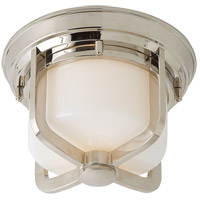 Visual Comfort TOB4011PN-WG Thomas O'Brien Milton 1 Light 10 inch Polished Nickel Flush Mount Ceiling Light