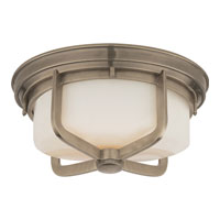 Visual Comfort Thomas OBrien Milton 2 Light Flush Mount in Antique Nickel TOB4013AN-WG