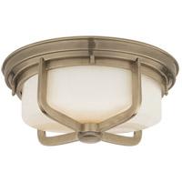 Visual Comfort TOB4013AN-WG Thomas Obrien Milton 2 Light 15 inch Antique Nickel Flush Mount Ceiling Light
