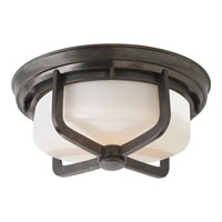 Visual Comfort TOB4013BZ-WG Thomas OBrien Milton 2 Light 15 inch Bronze Flush Mount Ceiling Light