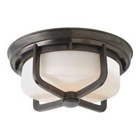 Visual Comfort Thomas OBrien Milton 2 Light Flush Mount in Bronze TOB4013BZ-WG