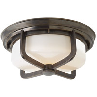 Visual Comfort TOB4013BZ-WG Thomas O'Brien Milton 2 Light 15 inch Bronze Flush Mount Ceiling Light