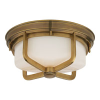 Visual Comfort Thomas OBrien Milton 2 Light Flush Mount in Hand-Rubbed Antique Brass TOB4013HAB-WG