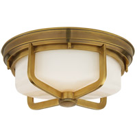 Thomas Obrien Milton 2 Light 15 inch Hand-Rubbed Antique Brass Flush Mount Ceiling Light