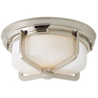 Thomas Obrien Milton 2 Light 15 inch Polished Nickel Flush Mount Ceiling Light