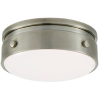 Visual Comfort TOB4062AN-WG Thomas O'Brien Hicks LED 6 inch Antique Nickel Flush Mount Ceiling Light, Petite