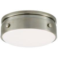 Visual Comfort TOB4062AN-WG Thomas Obrien Hicks LED 6 inch Antique Nickel Flush Mount Ceiling Light Petite